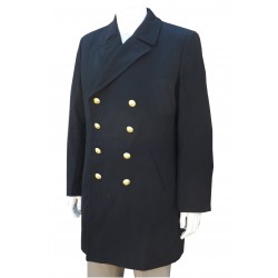 "Genuine Surplus German Navy Naval Dress Overcoat Military Wool Forces 40"" Chest 310"
