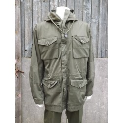 Military Style Windproof Smock SAS Smock Olive Green Lightweight Tactical Pocket