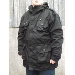 Military Style Windproof Smock SAS Smock Black Lightweight Tactical Pocket
