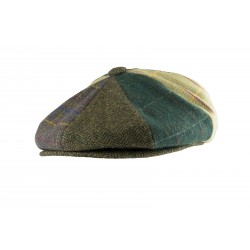 Jack Pyke Wool Blend Baker Boy Hat Check Cap Peaked Country Patchwork