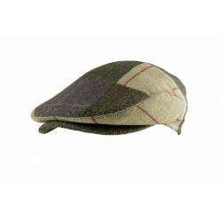 Jack Pyke Wool Blend Flat Cap Hat Check Cap Peaked Country Patchwork