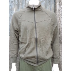 Genuine Surplus Austrian Army Tracksuit Jacket Stretch Olive Forces