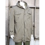 "Army Style Fur Lined Parka Olive Green Jacket Forces Surplus 40-42"" Chest 321"
