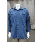 Genuine Surplus British Mans Naval Working Dress Shirt  Blue Wedgewood