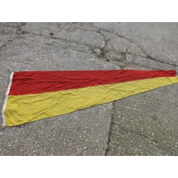 Genuine Naval Pennant Flag Triangle Red Yellow Military (473)