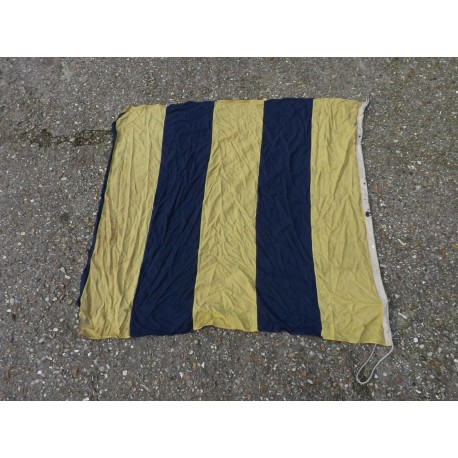 Genuine Surplus Naval Striped Flag Navy Blue cream Military (473)
