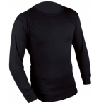ED Highlander Long Sleeve Thermal Vest Base layer Black Top Shirt Warm Winter