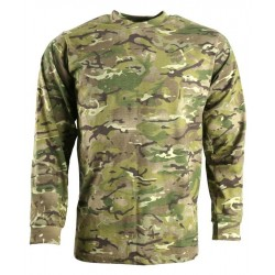 KT Long Sleeve T-Shirt BTP MTP Style Camouflage Cotton Camo Army Mens
