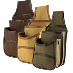 Jack Pyke Canvas Cartridge Pouch Country 12 20 410 gauge Belt Brown Fawn Green