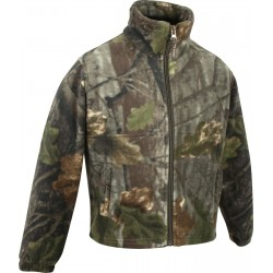 ED Jack Pyke Junior Fieldman Fleece Jacket EVO Leaf Girls Boys Warm Fishing Camo