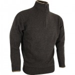 ED Jack Pyke Ashcombe 100% Lambswool Zip Neck Jumper Dark Olive Pullover Country