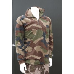 New Genuine Surplus French Army Camouflage Fleece Pullover Jumper Top Camo