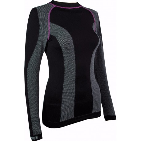 ED Highlander Thermo Tech Womens Long Sleeved Top Black Baselayer Impact