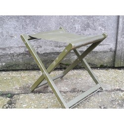 Genuine Surplus British Army Folding Stool Seat Vintage Forces Green Military