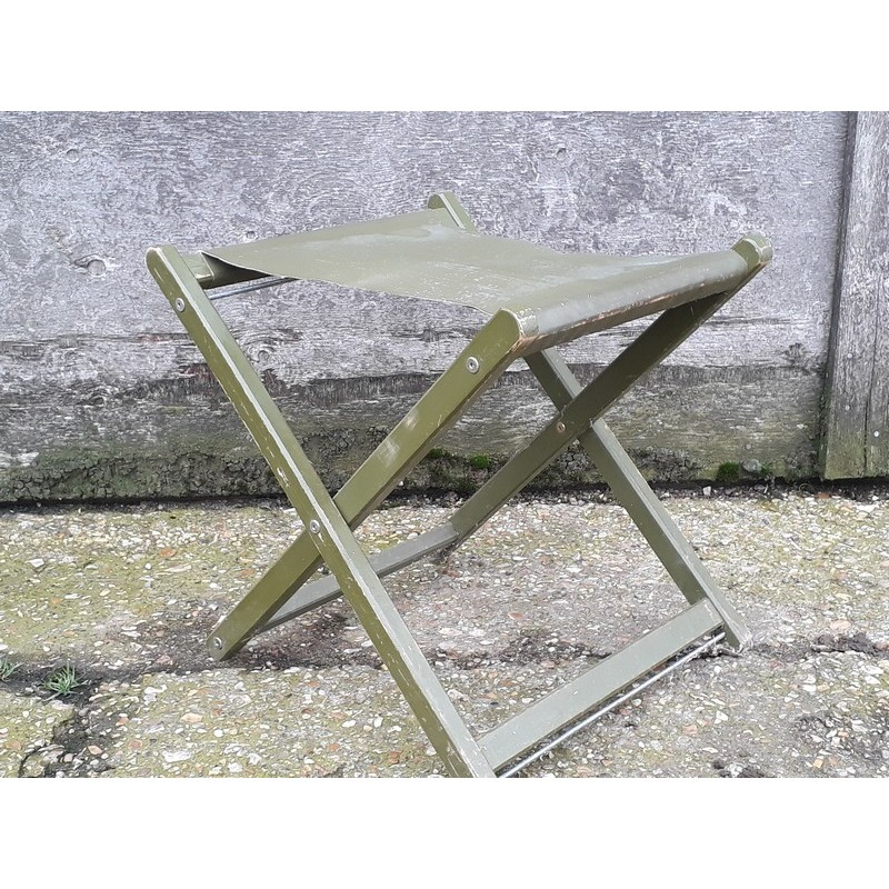 Pleasant Genuine Surplus British Army Folding Stool Seat Vintage Inzonedesignstudio Interior Chair Design Inzonedesignstudiocom