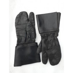 Genuine Surplus Austrian Leather Motorcycle Gauntlets Gloves Mittens Small 8-8.5