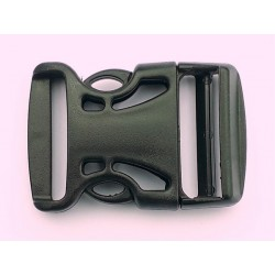 Quick Attach Surface Mount Buckle Side Release Clip 25mm (Fits 25mm Strap) Grey