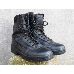 Highlander Delta Boots Black Army Combat Boots Size UK7 Tactical Leather (521)