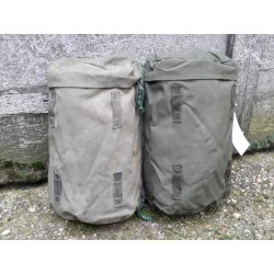 Genuine Surplus Vintage British Side Pouch Pair Olive Green Tough Canvas