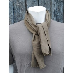Genuine Surplus Italian Army Woven Wool Scarf Supersoft Light Camel Brown