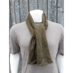 Genuine Surplus US Army Knitted Tube Scarf Wool Olive Green