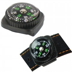Highlander Watch Strap Compass Survival Orienteering Walking Mini Emergency