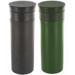 Highlander 500ml Thermal Mug Black Olive  Camping Hiking Cup Flask