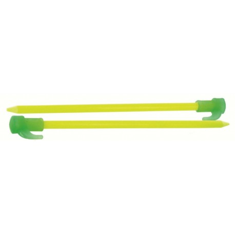 "Highlander 8"" Flourescent Peg Pack of 6 Tent Pegs Strong Camping Cheap Glow"