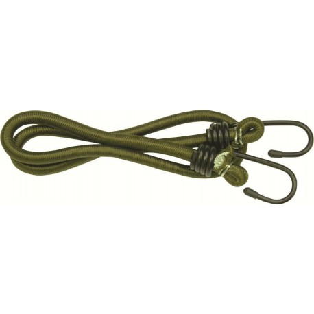 Highlander Olive Bungees Strong Pack of 12 8mm x 75cm strapping stretch hook