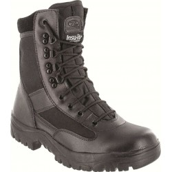 Highlander Alpha Boot Adult & Youth Mens Black Leather Canvas Work Forces Cadets