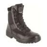 Highlander Alpha Boot Adult & Youth Mens Black Leather Canvas Work Forces Cadets