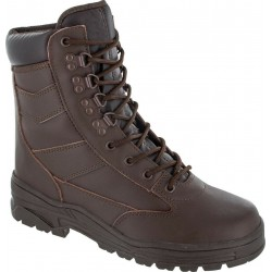 Highlander Delta Boot Adult & Youth Mens Brown Leather Tough Work Forces Cadets