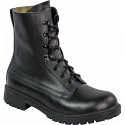 Highlander Ranger Assault Boot Adult Mens Black Leather Canvas Work Forces Cadet