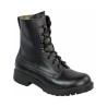 Highlander Ranger Assault Boot Adult Mens Black Leather Canvas Work Forces Cadet