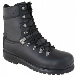 Highlander Eite Forces Boot Adult Mens Black Leather Canvas Work Forces Cadets