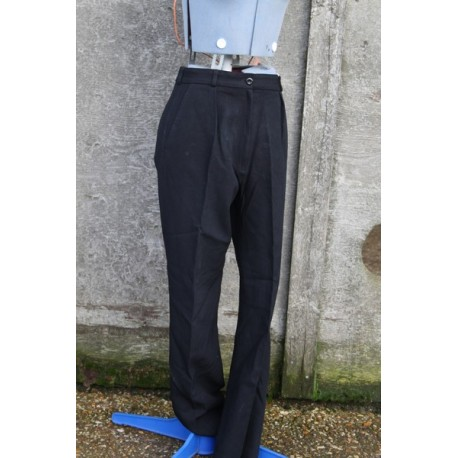 Genuine Surplus British Womens Naval Worsted Trousers Black Wool Blend Dress