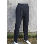 Genuine Surplus British Mens Naval Worsted Trousers Black Wool Blend Dress
