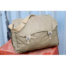 Genuine Surplus Swedish Army Vintage Canvas Bag Olive Satchel Large (605)