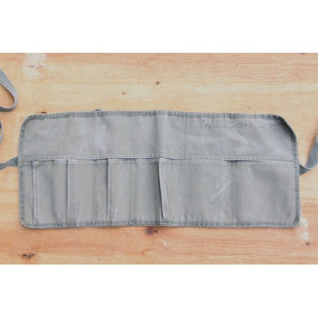 Genuine Surplus Vintage Army Utility Roll Tool Roll Canvas Faded (619)
