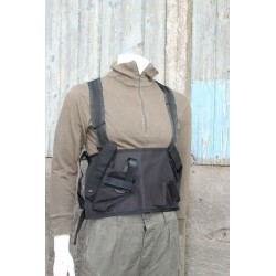 Factory Sample Chest Rig Left Handed Black Assault Tactical Airsoft  (627)