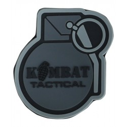 KT Grenade PVC Rubber Morale Patch tactical hook 3D Army Airsoft