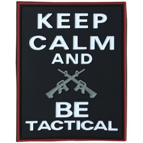 KT Keep Calm & Be Tactical PVC Rubber Morale Patch tactical hook 3D Army Airsoft