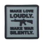 KT Make Love Loudly PVC Rubber Morale Patch tactical hook 3D Army Airsoft