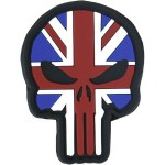 KT Punisher Union Jack PVC Rubber Morale Patch tactical hook 3D Army Airsoft