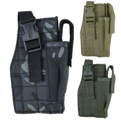Kombat MOLLE Gun Holster with Mag Pouch Black Olive Coyote BTP Camo