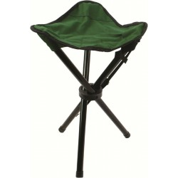 Highlander Steel Tripod Stool Green Fishing Camping Portable Folding Seat Steel