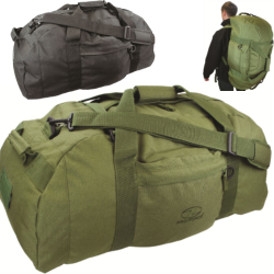 Highlander Loader 100 Holdall Rucksack Travel Bag Black Olive Military Deployment