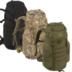 Highlander Forces 33L Rucksack Backpack Bergen Military Camo Olive Black