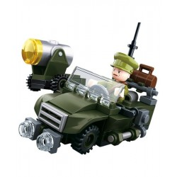 Sluban WWII Allied Forces Jeep construction brick Army Childs Toy B0678B