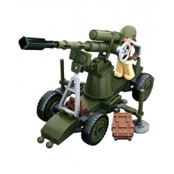 Sluban WWII Allied Forces Flak Gun construction brick Army Childs Toy B0678C